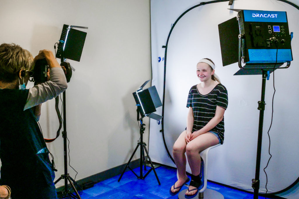 Frey Orthodontics staff taking photos of a patient