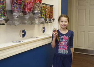 patient at candy station